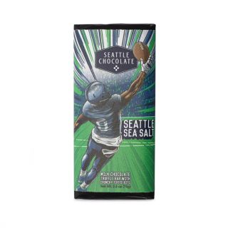 Seattle Chocolates - Seattle Football Sea Salt Truffle Bar - 2.5 oz