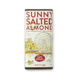 Seattle Chocolates - Sunny Salted Almond Truffle Bar - 2.5 oz