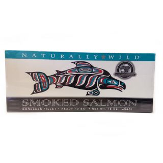 Smoked Wild Salmon Fillet - 16 oz