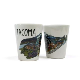 Tacoma Cityscape Ceramic Shot Glass
