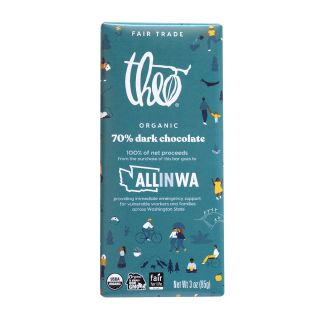 Theo Chocolate - All in Washington 70% Dark Chocolate Bar - 3oz