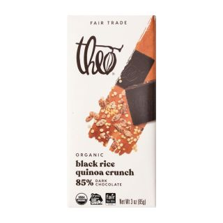 Theo Chocolate - Black Rice Quinoa Crunch Dark Chocolate Bar - 3oz