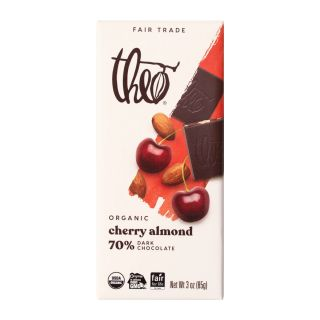 Theo Chocolate - Cherry Almond Dark Chocolate Bar - 3oz