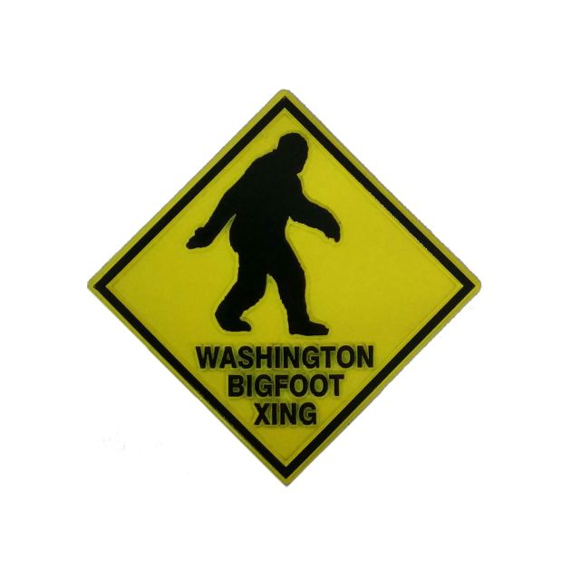 Bigfoot Crossing Magnet - Yellow and Black