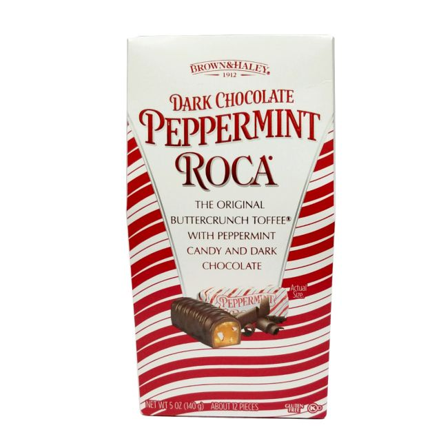 Dark Chocolate Peppermint Almond Roca - 5 oz stand up box
