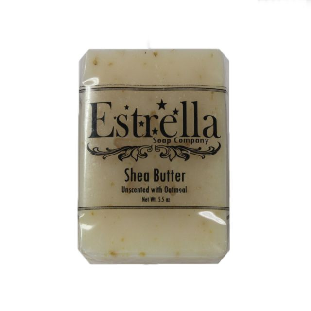 Estrella Soap Company - Shea Butter Unscented with Oatmeal - 5.5 oz