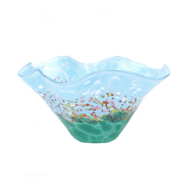 Glass Eye Studio - Mini Wave Bowl - Wildflowers - 6