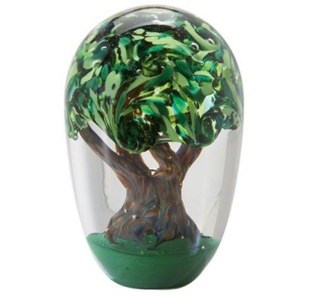Glass Eye Studio Paperweight - Tree Of Life - 4.5