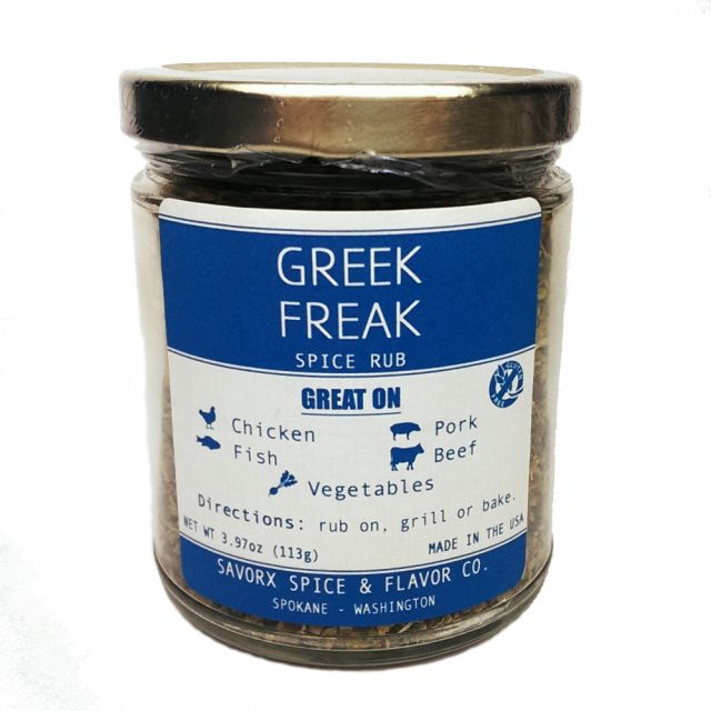 Greek Freak Spice Rub - 3.97 oz - Pacific Northwest Shop