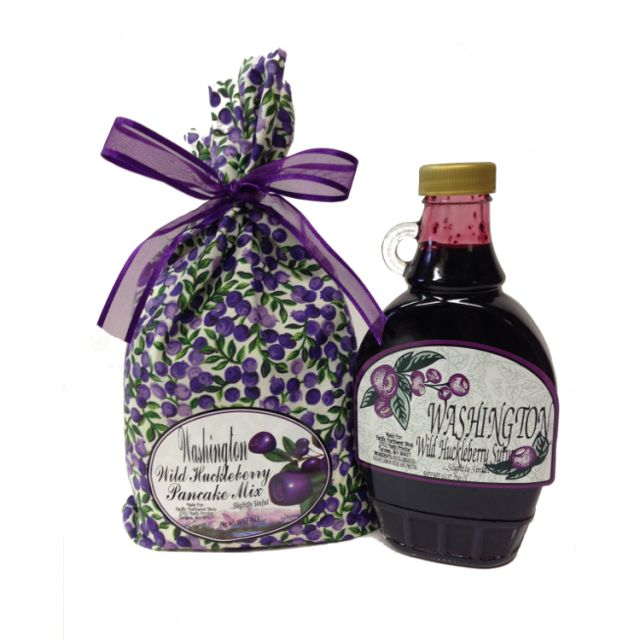 Huckleberry Pancake Mix and Syrup Combo