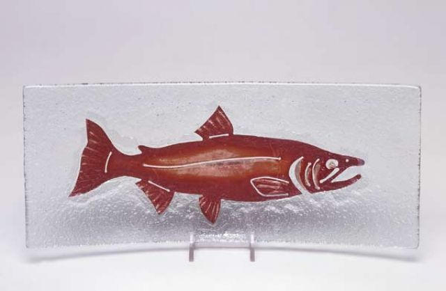 Jones Glassworks - Salmon Appetizer Plate - 5