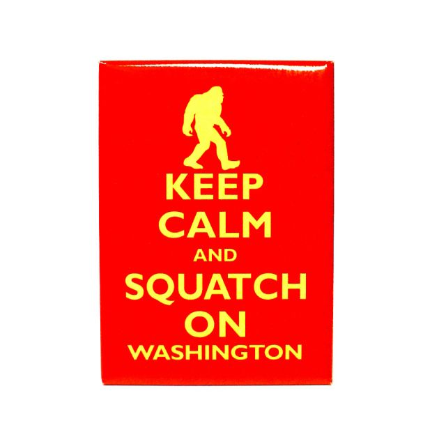 Keep Calm and Squatch On Magnet