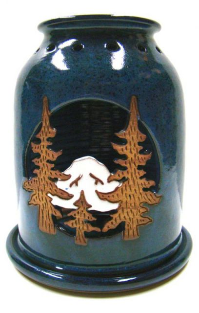 Mountain Candle Handmade Pottery Lantern - by Pam and Mac
