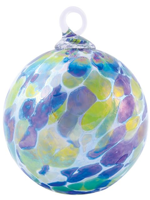 Mt. St. Helens Volcanic Ash Hand Blown Art Glass Ornament - Spring Showers - 3