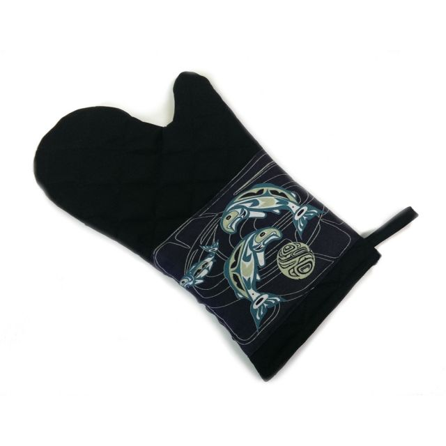 Native American - Circle of Life Salmon Design - Oven Mitt