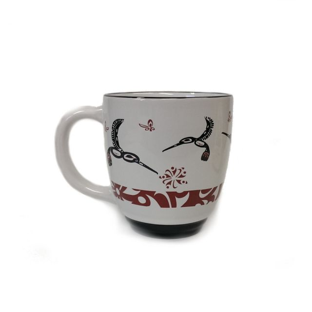 Native American - Hummingbird Design Mug (maroon)
