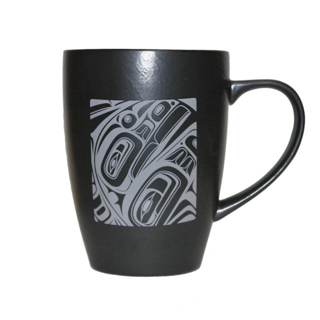 Native American - Pacific Spirit - Matte Black Ceramic Mug