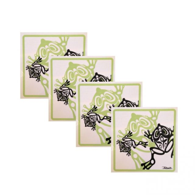 North Coast Indian Frog Design Coasters - Set of Four