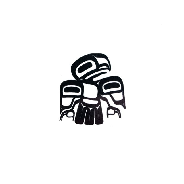 Pacific Northwest Native American Temporary Tattoo - Eagle Crest