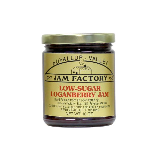 Puyallup Valley Jam Factory - Low Sugar Loganberry Jam - 10 oz