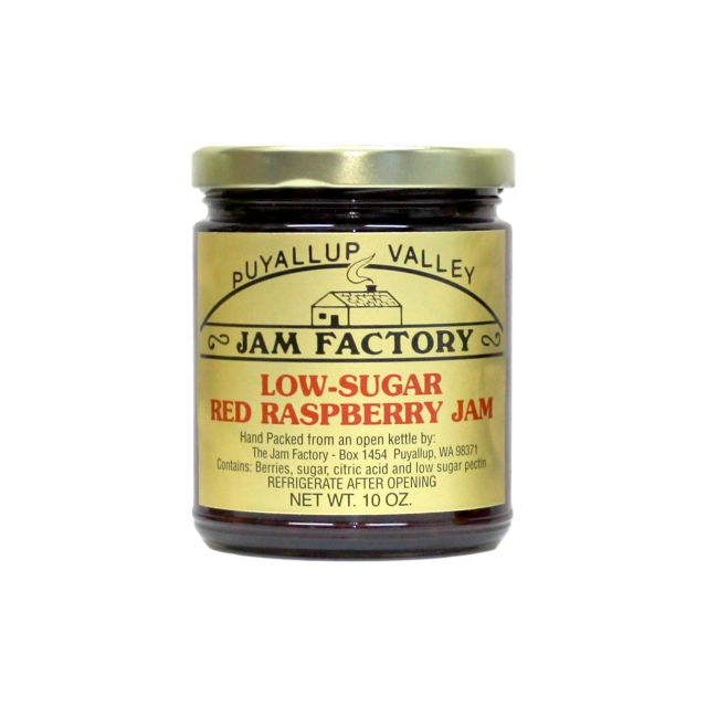 Puyallup Valley Jam Factory - Low Sugar Red Raspberry Jam - 10 oz