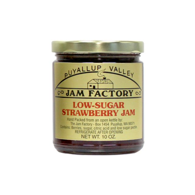 Puyallup Valley Jam Factory - Low Sugar Strawberry Jam - 10 oz