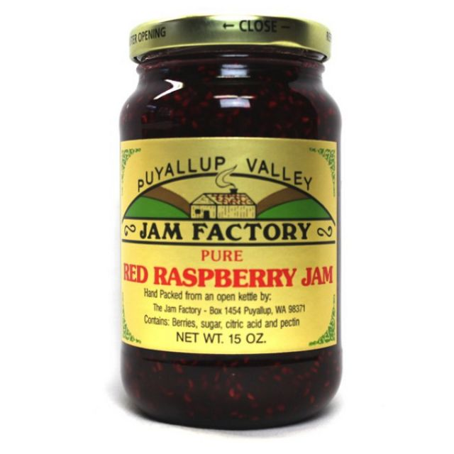 Puyallup Valley Jam Factory - Red Raspberry Jam - 15oz