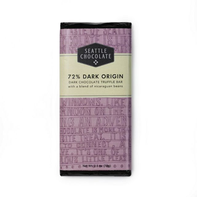 Seattle Chocolates - 72% Dark Origin Truffle Bar - 2.5 oz