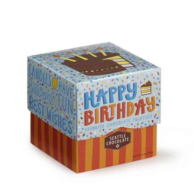 Seattle Chocolates - Happy Birthday Box - 6 oz