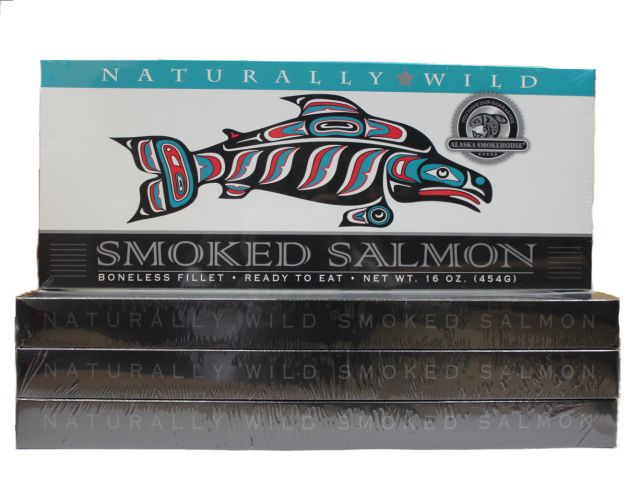 Smoked Wild Salmon - Best Price: 4 of the 16oz box (64oz total)
